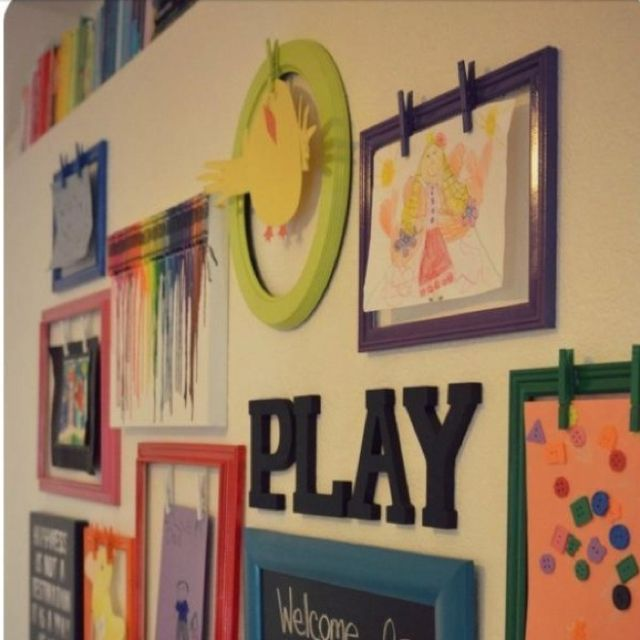 How to Create a Gallery Wall in Six Simple Steps | Display kids ...