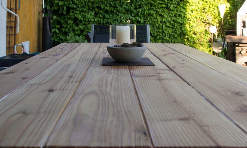 Diy gartentisch aus holz holz garten gartentisch und gartentisch holz - Holztisch terrasse ...