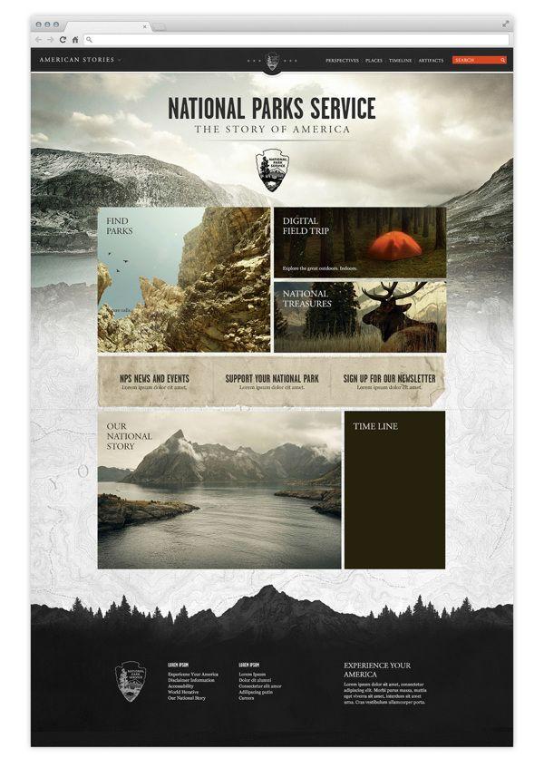 Infographics Ui Design Et Web Design: National Parks Service On Behance#wedesign #web #design
