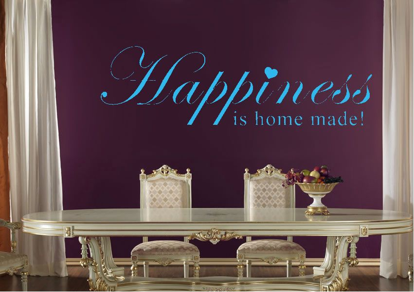 Happiness is home made wall stickers several sizes prices from 9 99 http