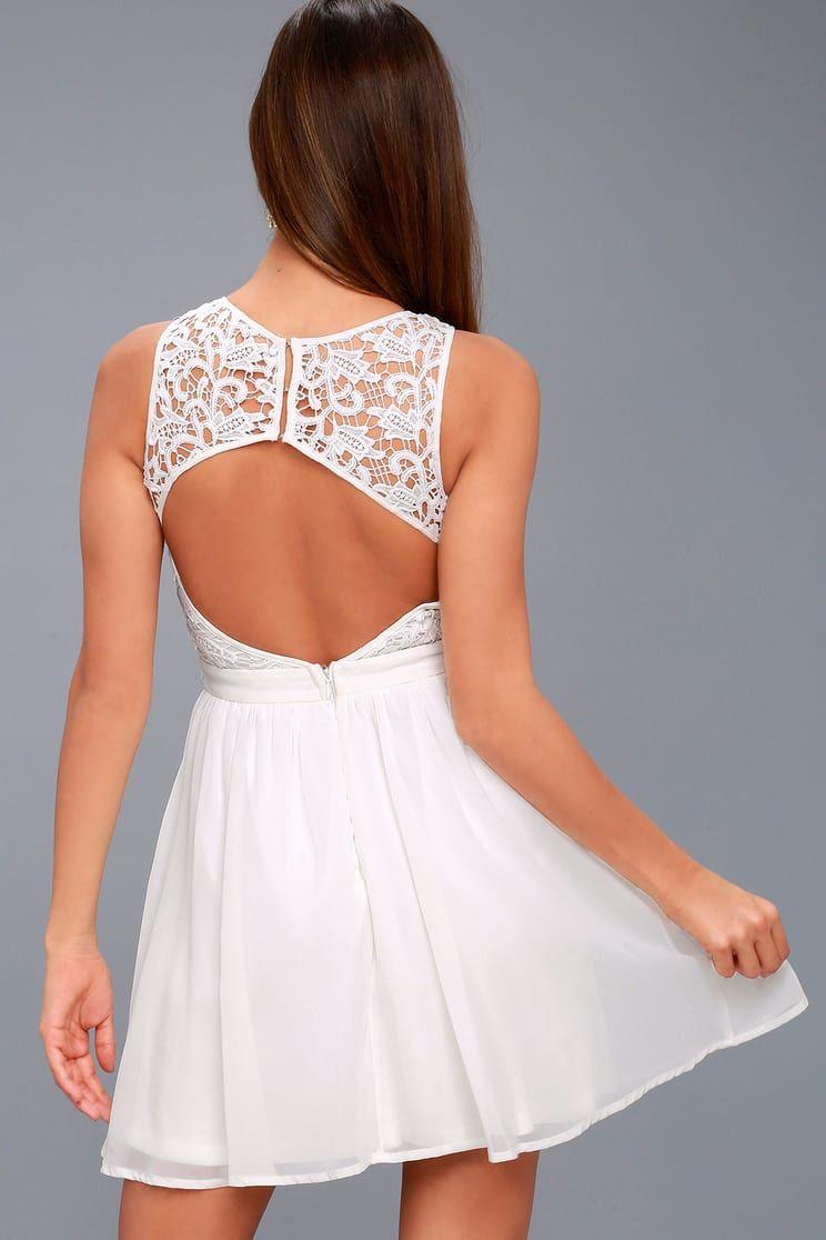 Romantic Tale White Lace Skater Dress White Lace Skater Dress Lace White Dress Long Sleeve White Dress Short [ 1116 x 744 Pixel ]