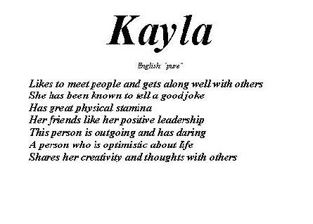 kayla wallpapers that say what does your name mean go