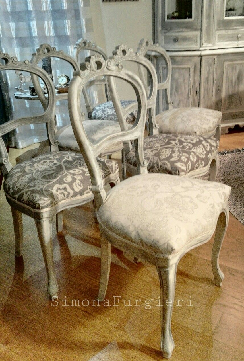 Tessuti Per Sedie Antiche.Sedie Shabby Chic Being A Shabby Chic French Country