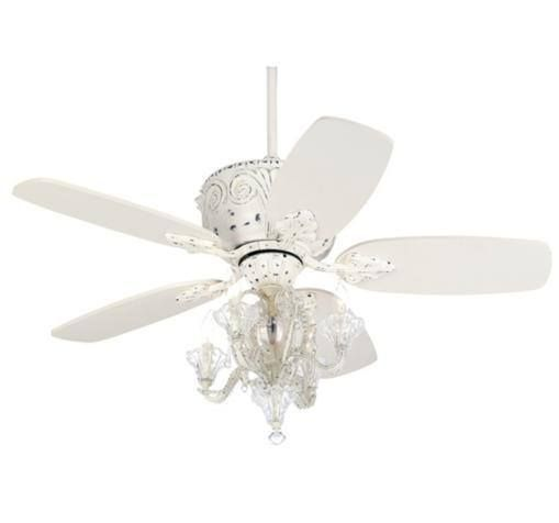 Quot Fandelier Quot Ceiling Fan White Ceiling Fan Ceiling Fan With Remote