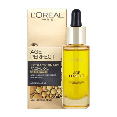 how to use loreal age perfect facial oil