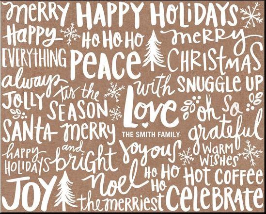 Joyful Jargon: Walnut Personalized Gift Wrap