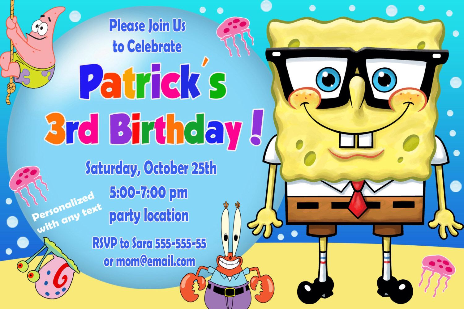 Spongebob birthday invitation spongebob invitation spongebob spongebob birthday invitation spongebob invitation spongebob squarepants invitation personalized digital file by designfromalexa on etsy filmwisefo