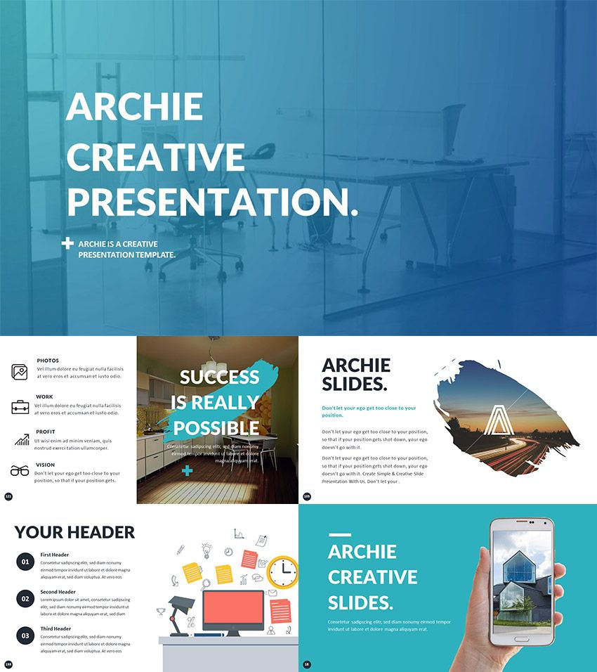 PowerPoint Template for Creative Presentation Ideas | Technique ...