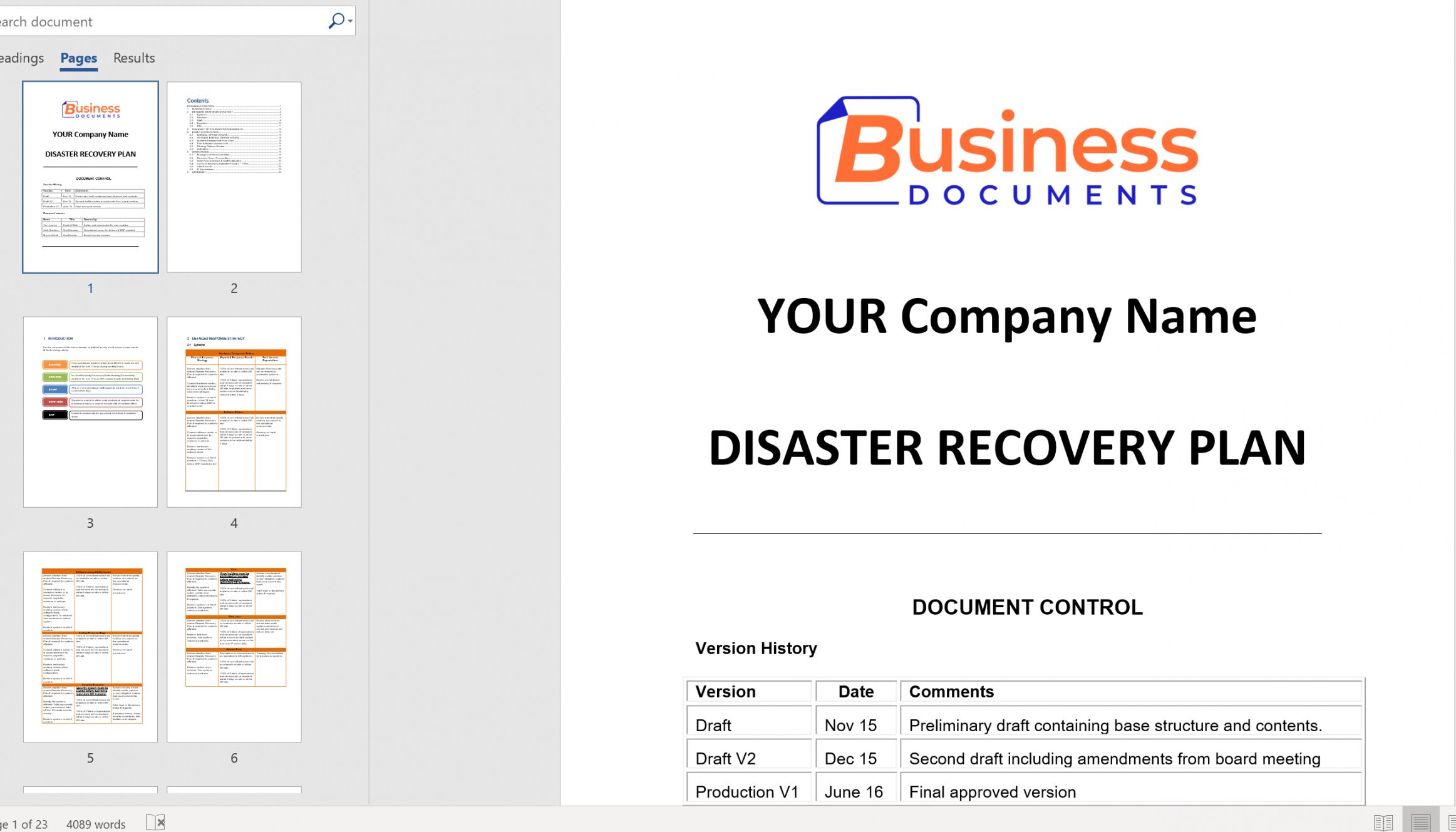 Disaster Recovery Proposal Template Disaster Recovery Business Continuity Proposal Templates It disaster recovery plan template