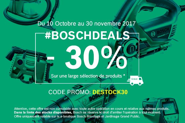promotion boschdeals octobre novembre 2017 le coin des bosch divers. Black Bedroom Furniture Sets. Home Design Ideas