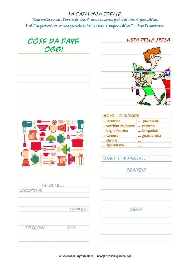 List todo today planning pdf stampabile pdf bullet for Planning faccende domestiche
