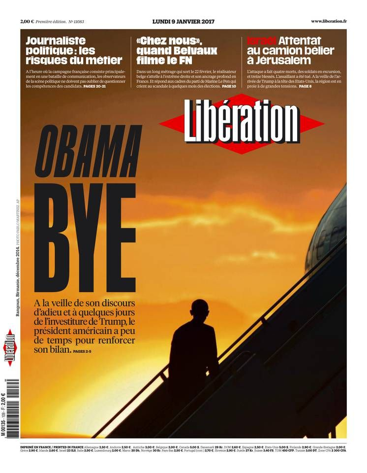 Libération - Lundi 9 Janvier 2017 - N° 11083