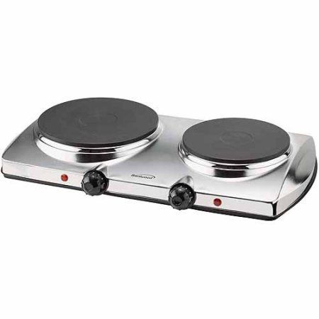 Brentwood Ts 372 1 440w Electric Double Hot Plate Walmart Com 34 35 Electric Hot Plate Hot Plate Double Burner