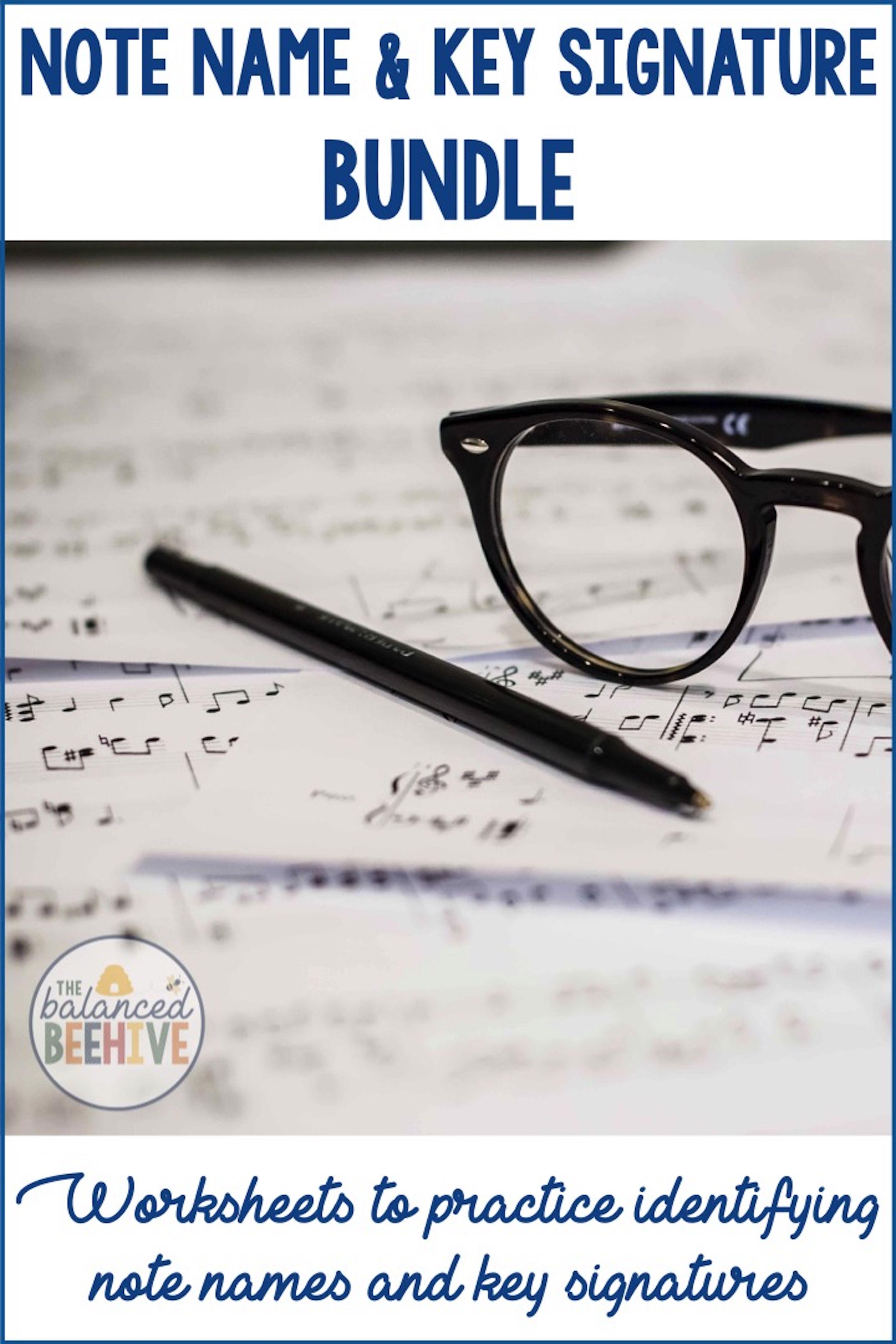 Note Name And Key Signature Worksheet Bundle