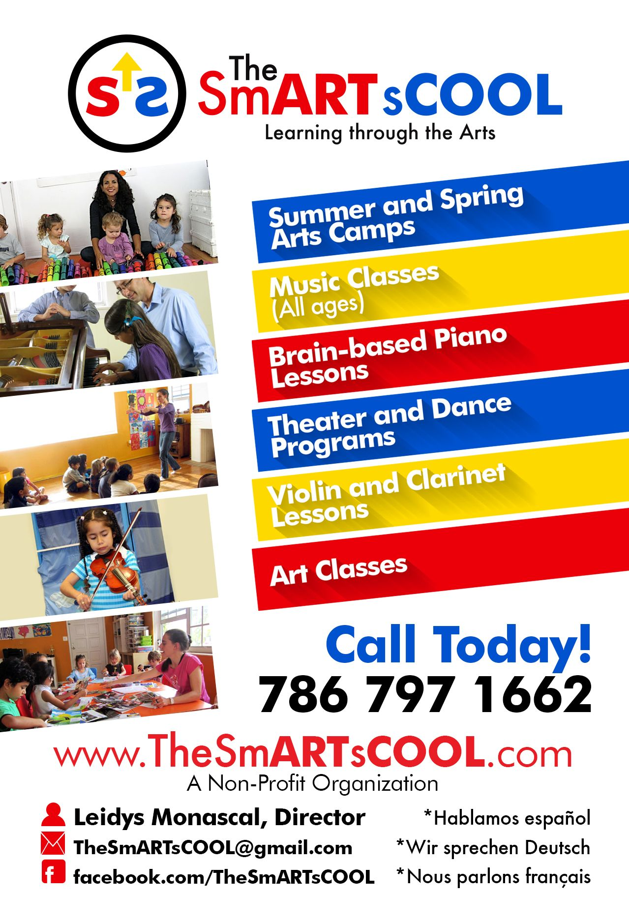 Programs offered by TheSmARTsCOOL in our three locations in Miami. Please contact us for more information