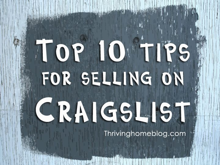 885efc98a7 Loads of great information from a Craigslist guru on how to successfully  and safely sell stuff on Craigslist.