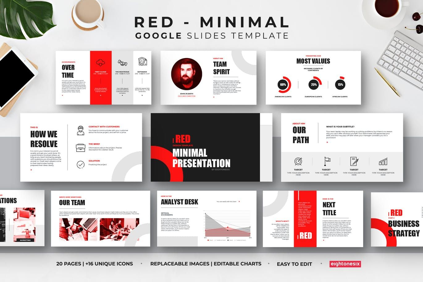 Minimal Google Slides Presentation Template By Eightonesixstudios On Envato Elements Presentation Slides Templates Presentation Templates Presentation Design Template