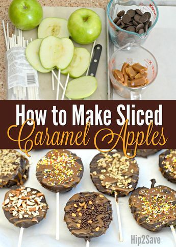 Dipped Caramel Chocolate Apple Slices #caramelapples