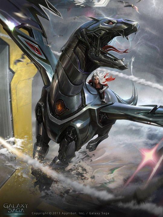 digital art by matias murad robot dragon sci fi in the minds eye