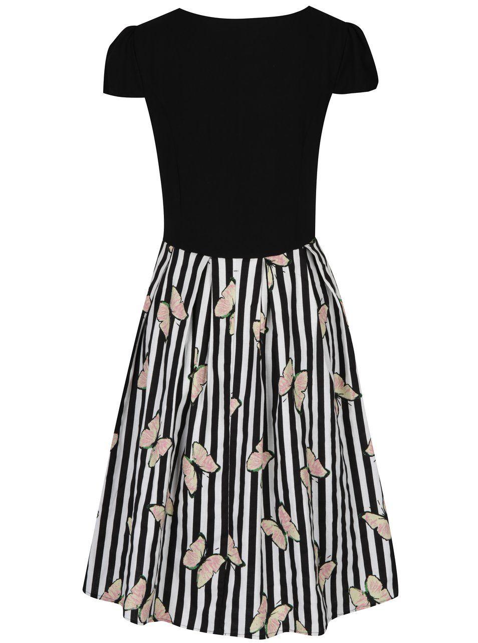 281f888010b8 Černo-bílé vzorované šaty Dolly   Dotty Vanessa