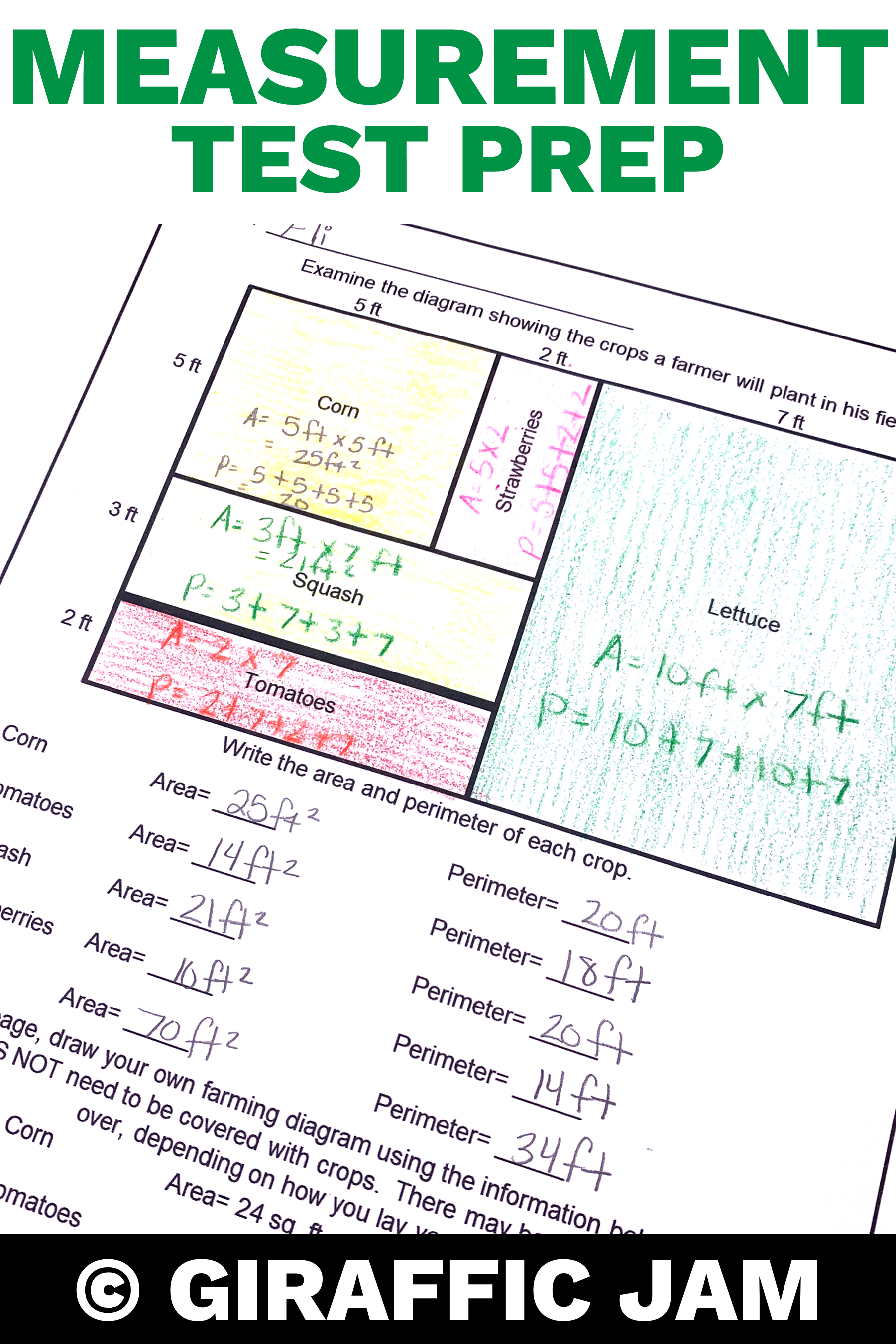 4th Grade Measurement Tasks | 4th Grade Test Prep ...