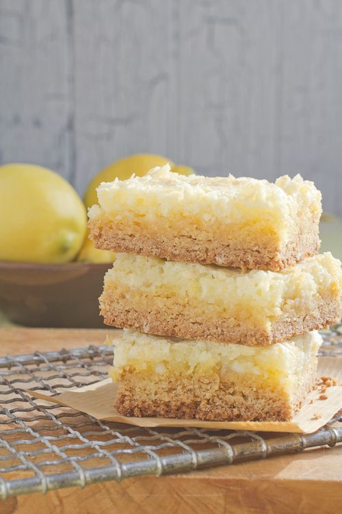 lemon chess cake squares...