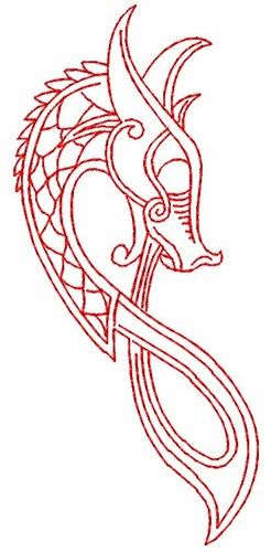 Photo of Celtic Dragon Embroidery Design