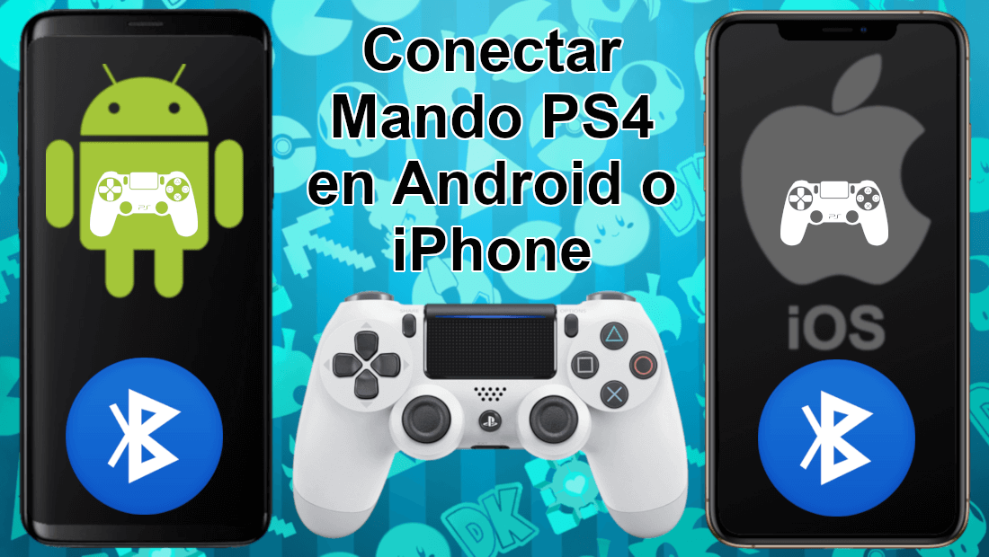 Como Conectar El Mando De Ps4 Con Android O Iphone Ej Fortnite Android Iphone Teléfono Android