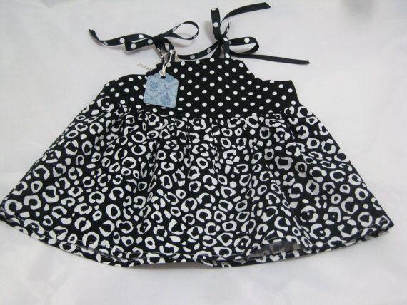 Newborn Baby Dress  Black and White summer by GreatfullThreads, $25.00