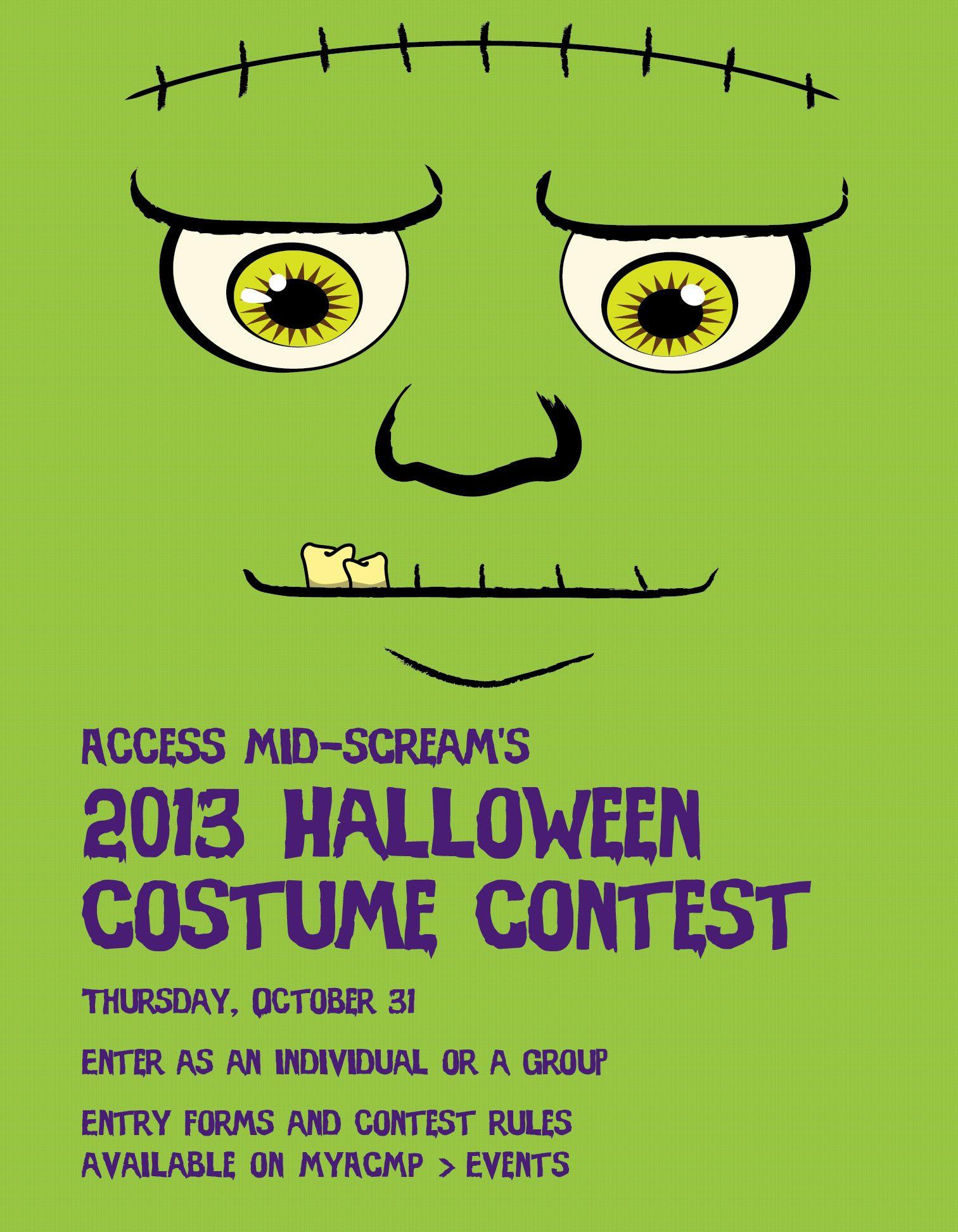 halloween. company costume contest poster. #type #typography #design