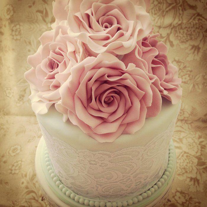 Pleasing Vintage Birthday Cake By Priscillas Cakes Cakesdecor Com Funny Birthday Cards Online Fluifree Goldxyz