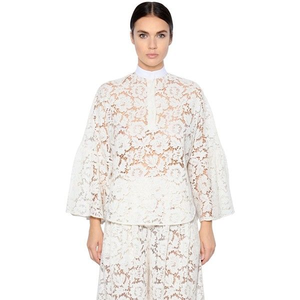Cotton-blend lace top Valentino Clearance With Paypal Cheap Fake Outlet Affordable BVTfPAj