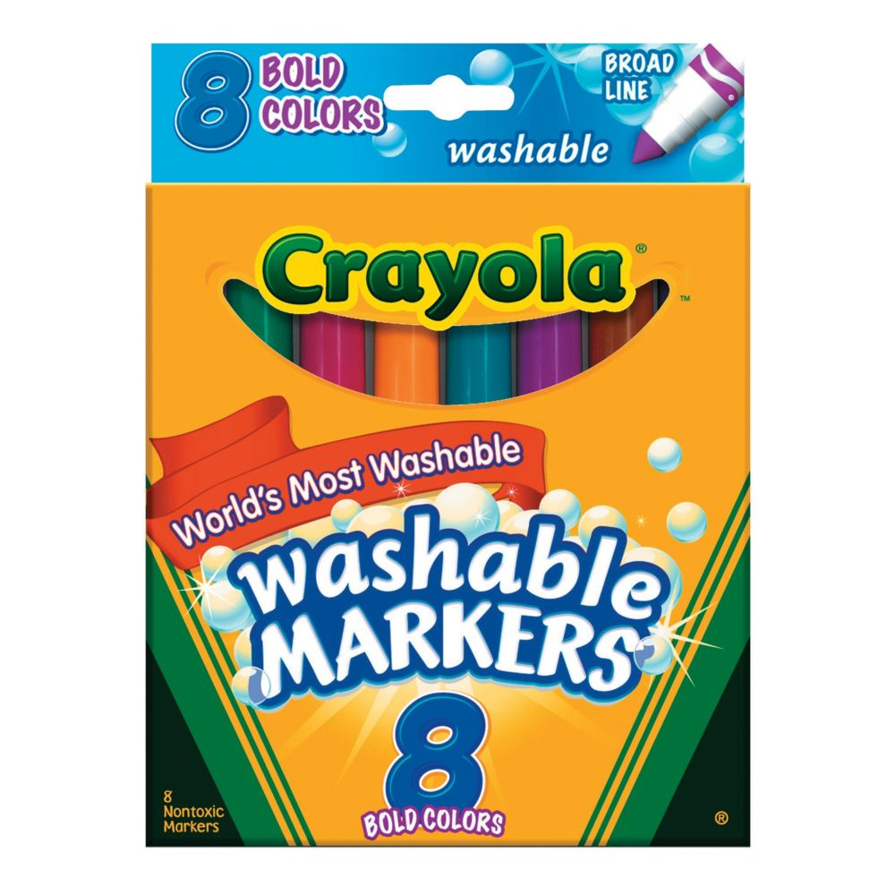 Color crayola washable conicaltip bold color markers markers