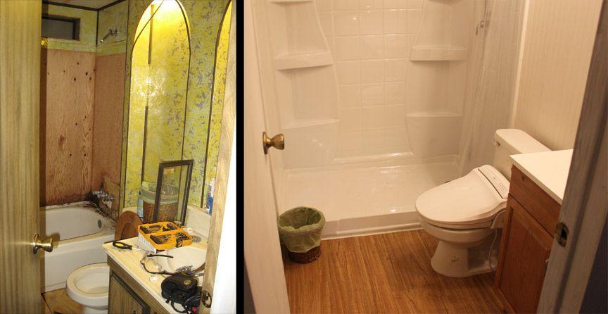 Half Bath Ideas On A Budget: Mobile Home Bathroom Remodeling