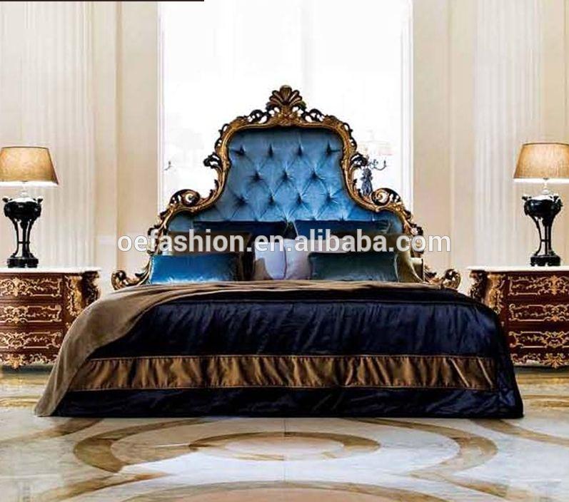 OEFASHION Luxury House Furniture King Bedroom Set Wood High Back Best Fashion Bedroom Furniture