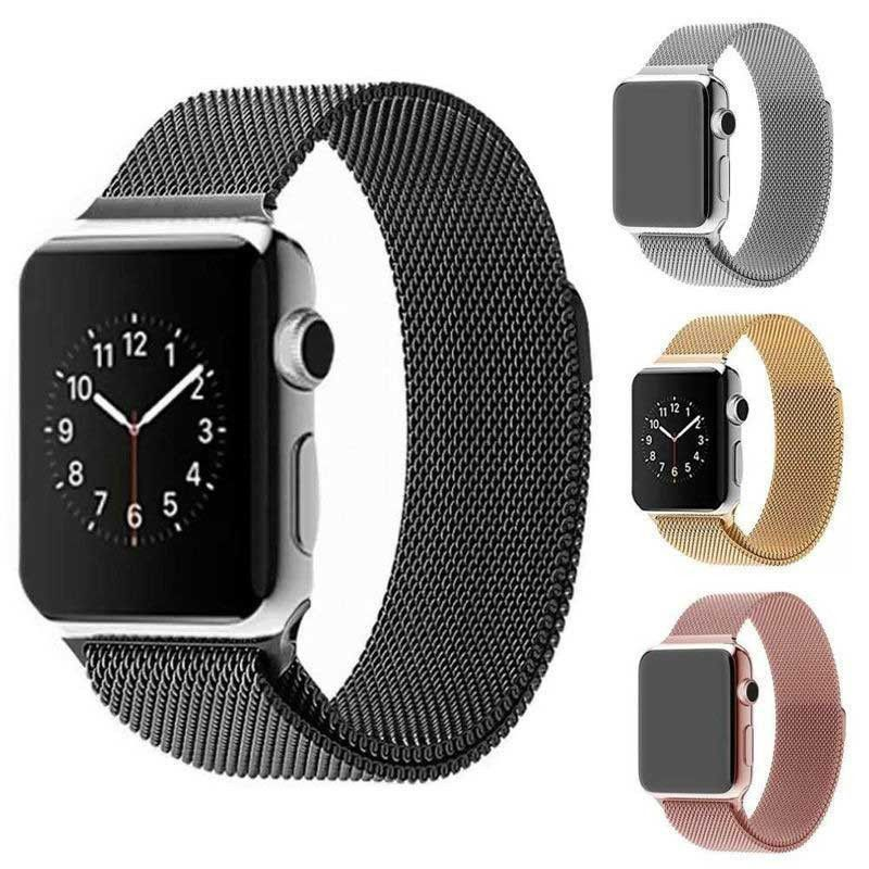 Apple Watch Band Milanese Magnetic Loop Stainless Steel Com