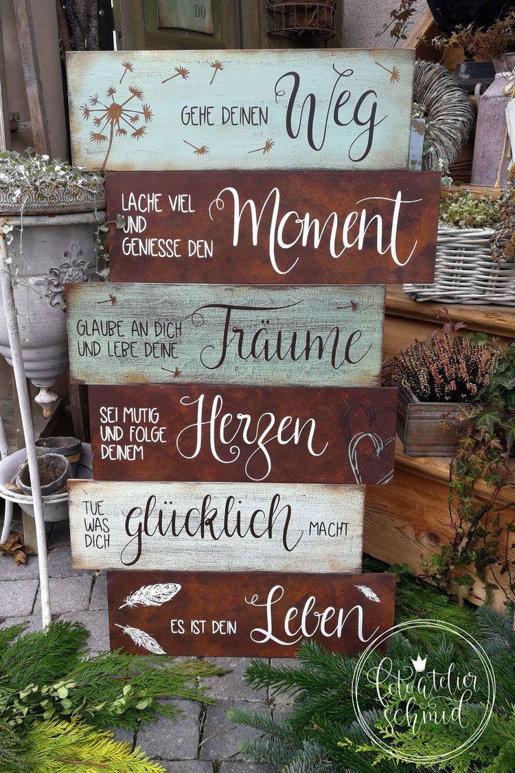 Schilder Aus Holz Metall Aus Bastelnfenster Holz Metall Schilder In 2020 Decor Kitchen Ornaments Home Decor