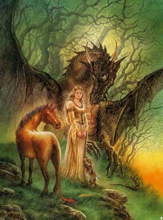 Dragon Fantasy Kunst Drachen 1255