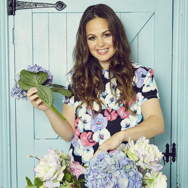 Giovanna Fletcher Celebrity style, Floral tops