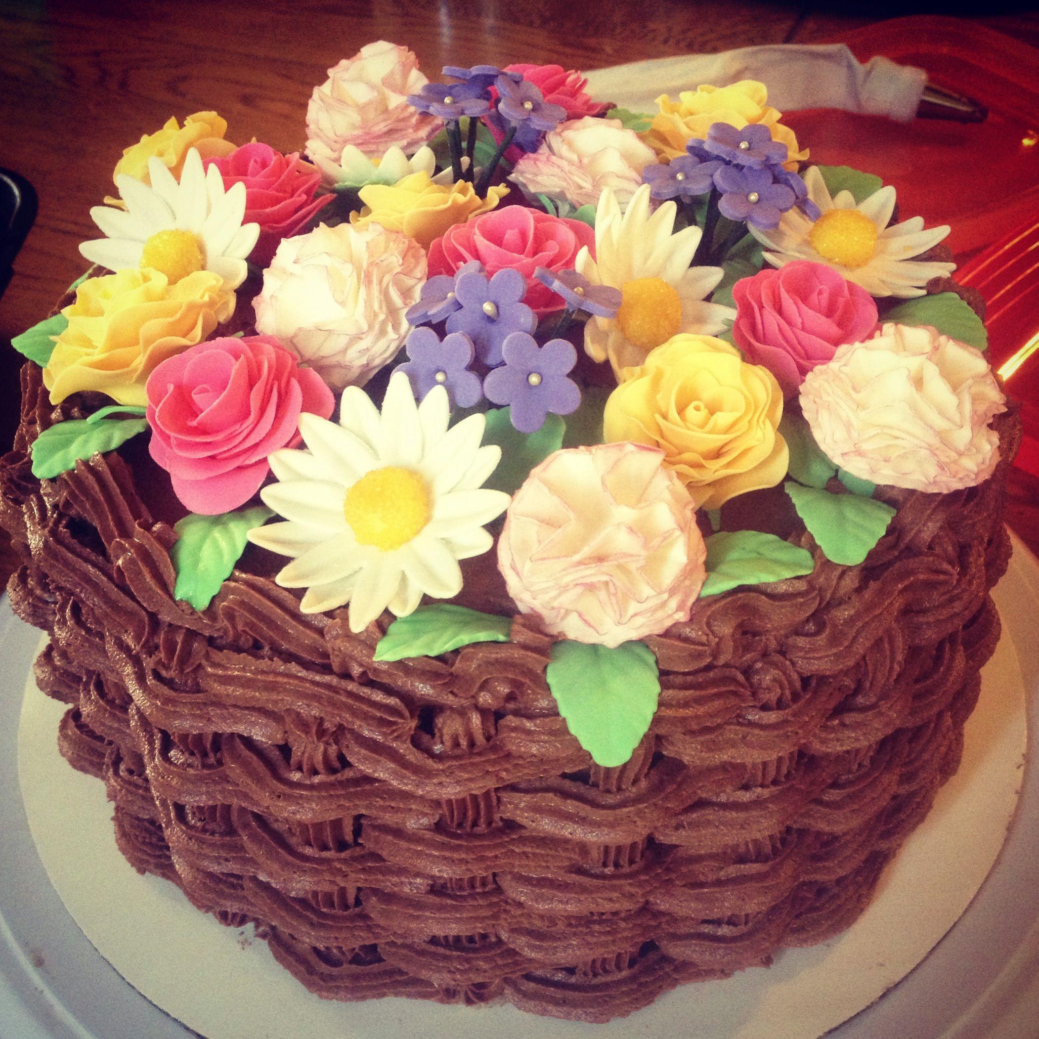 Gumpaste Flower Basket Pictures 65