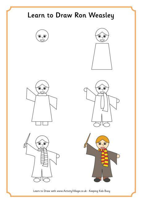 Learn To Draw Ron Weasley Harry Potter In 2019 Pinterest