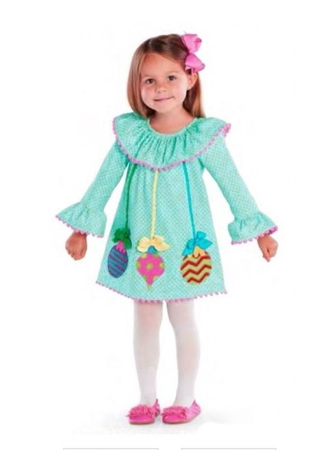 a refreshing new take on kids holiday apparel mud pies christmas ornaments dress brightens the season in a pink and aqua color scheme - Mud Pie Christmas Outfit