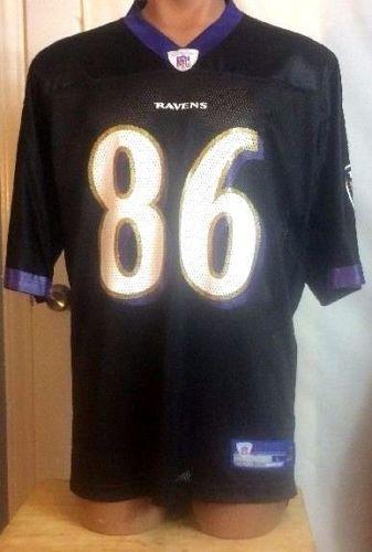 8f0f507c6 Baltimore Ravens Reebok Nylon NFL Equipment Todd Heap  86 Jersey Size Large