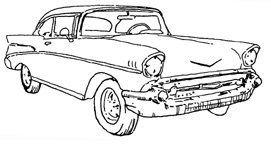 '57 Chevy Cars coloring pages, Cool drawings, Adult