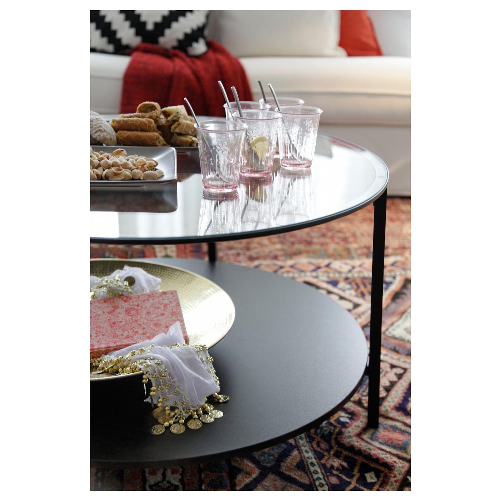 Vittsjo Black Brown Glass Coffee Table 75 Cm Ikea Coffee Table Coffee And End Tables Glass Coffee Table [ 1600 x 1600 Pixel ]