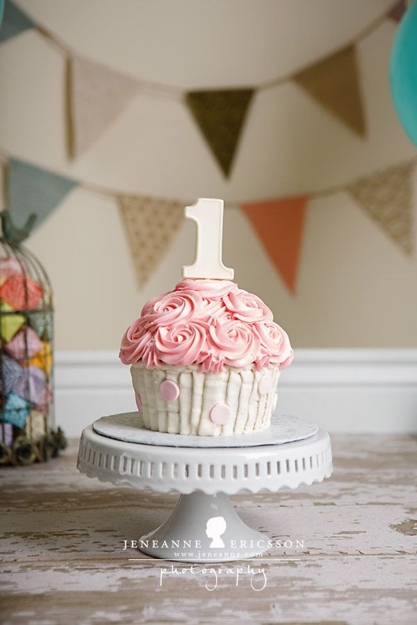 Image Result For Smash Cake Giant Cupcake 1st Birthday Photo Shoot