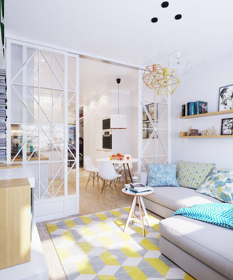дизайн однокомнатной квартиры для пятерых фото для