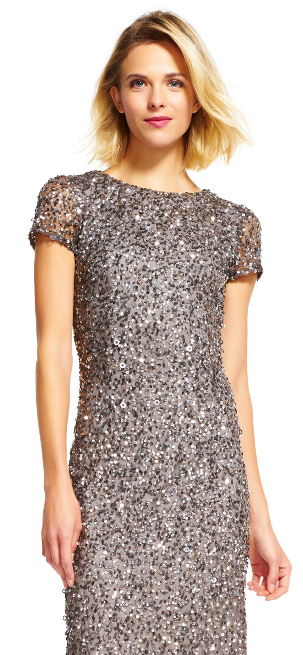Scoop back sequin gown gowns and weddings