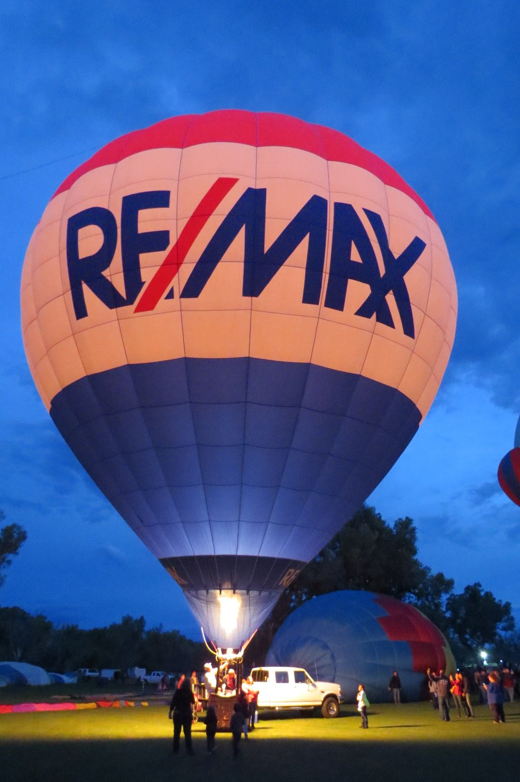 The RE/MAX Balloon at the Hot Air Balloon Glow Festival in