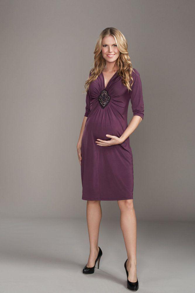 Diamond Shape Beaded Broach Maternity Dress - rent for $39 ...